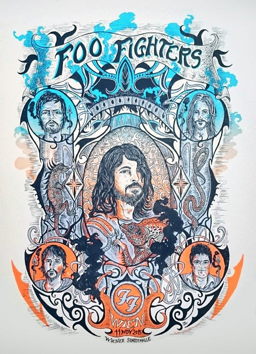 FOO FIGHTERS (Vienne /2015) screenprinted poster (A.P. edition)