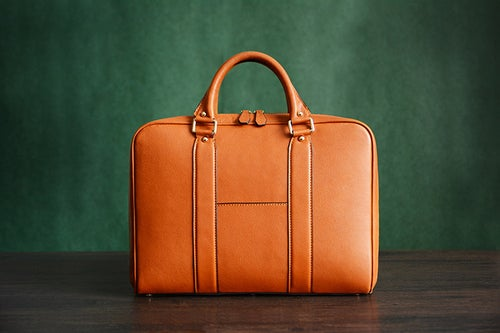 Image of Custom Handmade Italian Vegetable Tanned Leather Briefcase, Messenger Bag, Laptop Bag D007