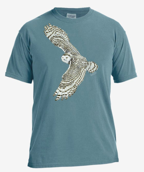 Image of Snowy Owl dyed t-shirt