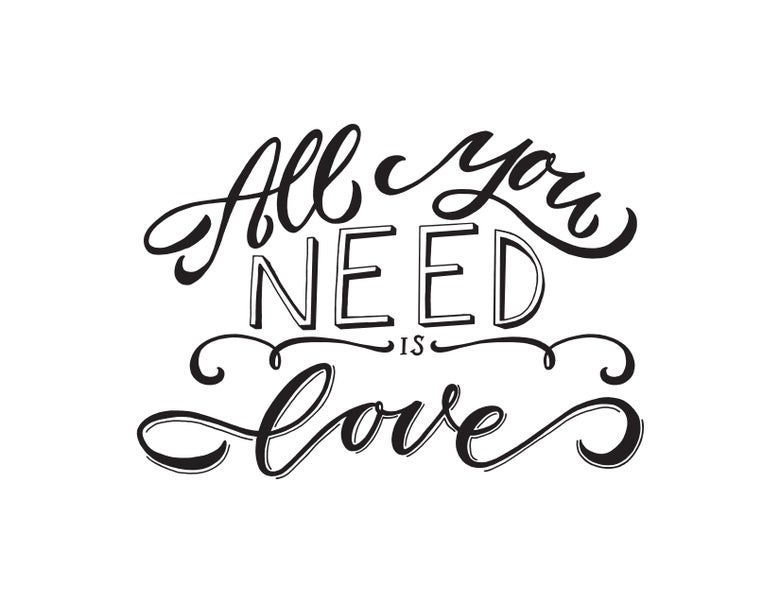 Image of ALL YOU NEED IS LOVE DIGITAL PRINTABLE