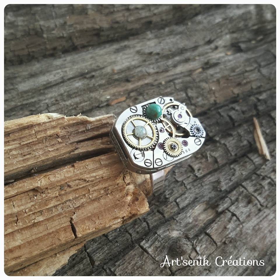 Image of Bague Aventurine - Turquoise