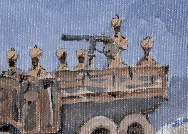 Image of Sudan Defence Force 1930 Morris 15.9 hp 30 cwt truck and machine gun