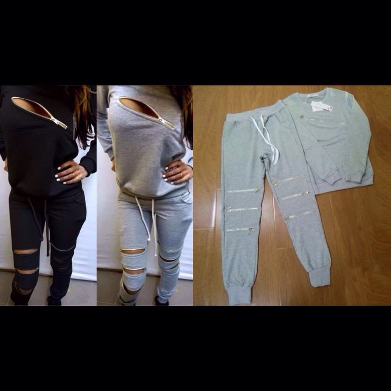 Image of Ladies casual zip tracksuit