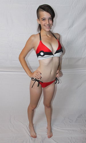 Image of Pokeball bikini swimsuit