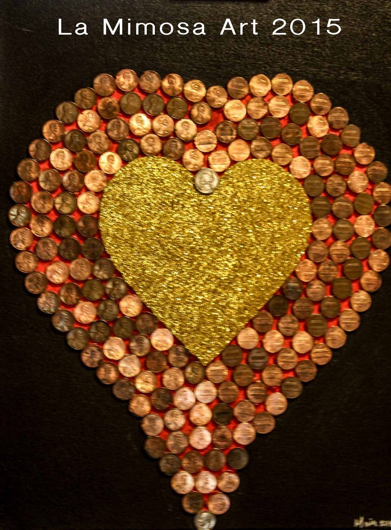 Image of Love Series - Heart of Pennies
