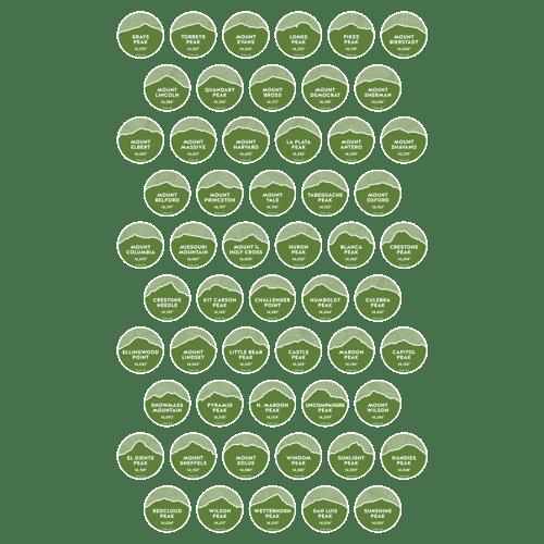 Image of Colorado 14er Peak Stickers
