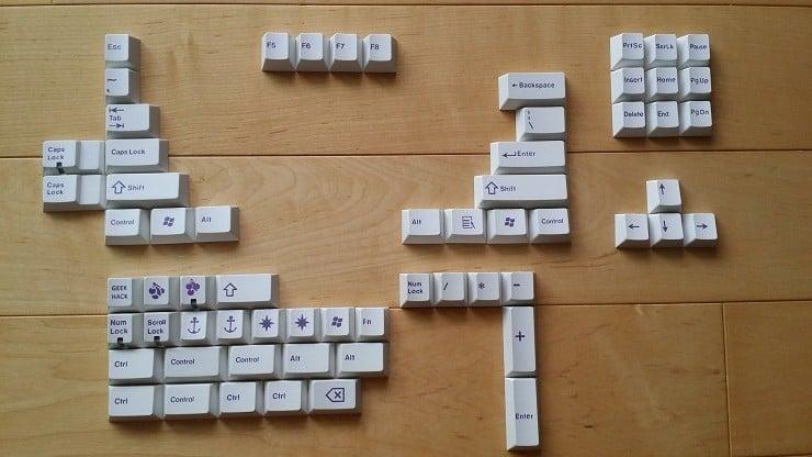 Image of JT Keycap Royal Purple/White Keyset Extension