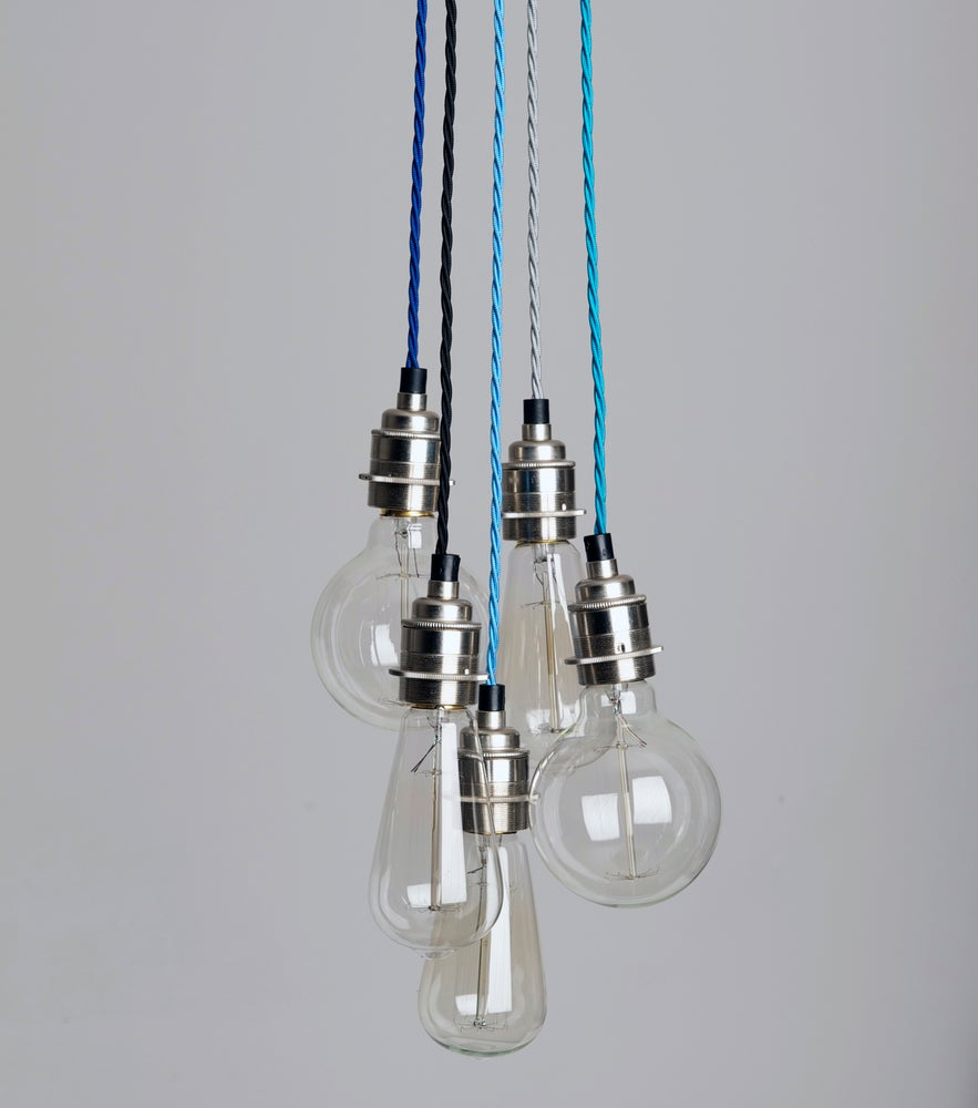 Five strand cluster pendant light hütte