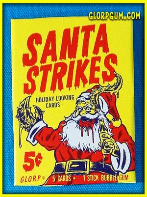 Santa Strikes Trading Card packs!