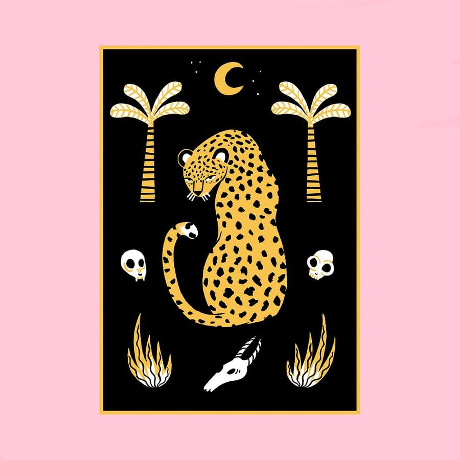Image of Leopard Screenprint