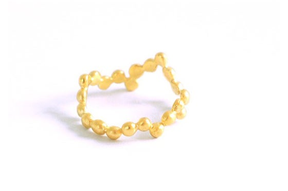 Image of Perles de pluie, ring in solid gold 18k