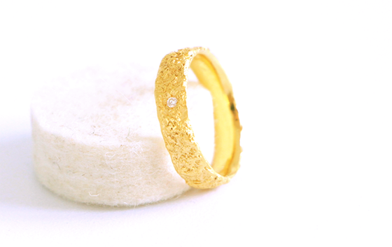 Image of Sur le sable, ring in gold 18k with diamond