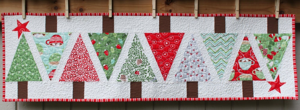 Image of Christmas Quilted Table Runner