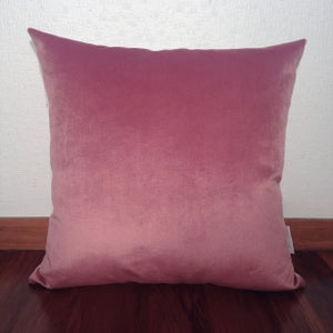 "Image of ""Frenchy"" Pink Velvet Cushion Cover"