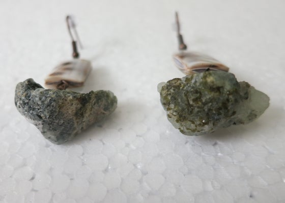 Image of Prehnite Rock Earrings