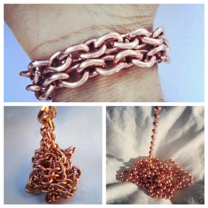 Image of Copper Ball Chains/Bracelets/& More