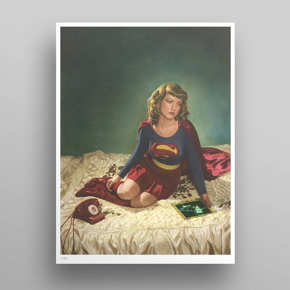 Image of 'Supergirl I' Richie Fahey UNFRAMED