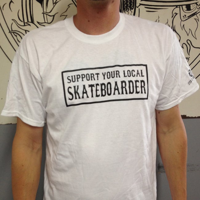 Image of Support Your Local Skateboard T-shirt