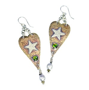 "Image of ""Heart with Star"" Earrings"