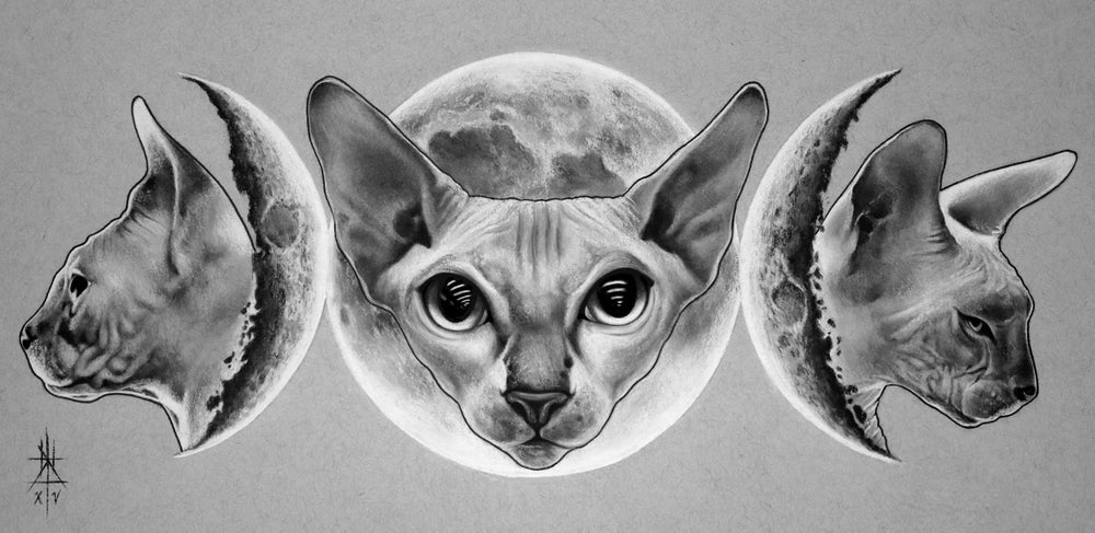 Image of Triple Cat Goddess