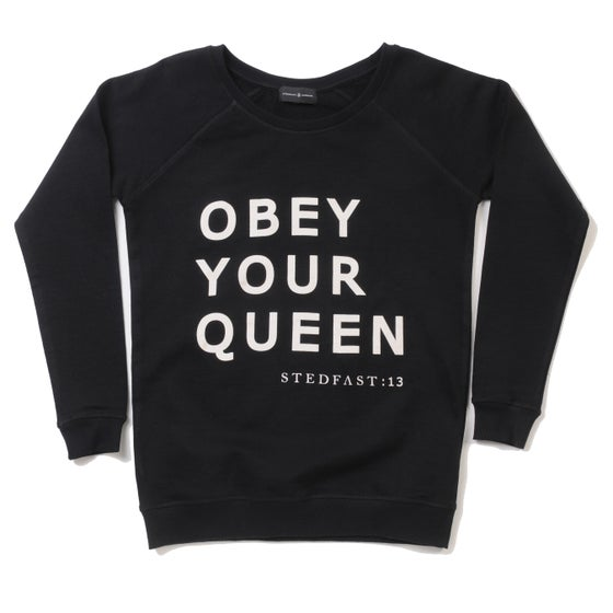 Image of Womens Obey your Queen black Sweatshirt