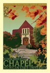 MSU Alumni Chapel Fall Limited Edition 13x19 Print No. [042]