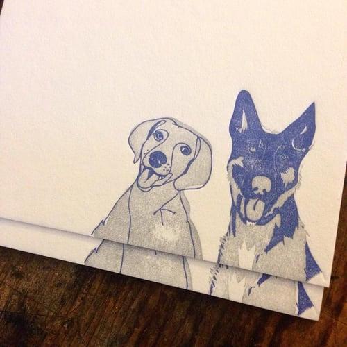 Image of Custom canine/feline letterpress notecards