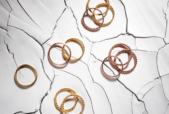 Image of 18k Gold & Rose Gold / Mount Lavinia Braided & Twisted Ring