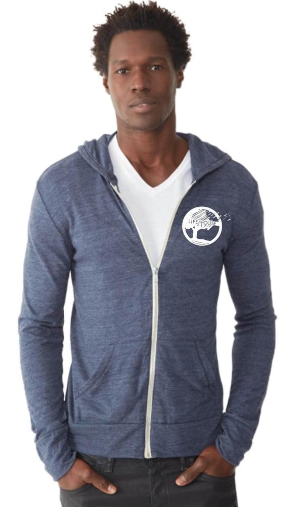 Image of Blue Zip Hoodie