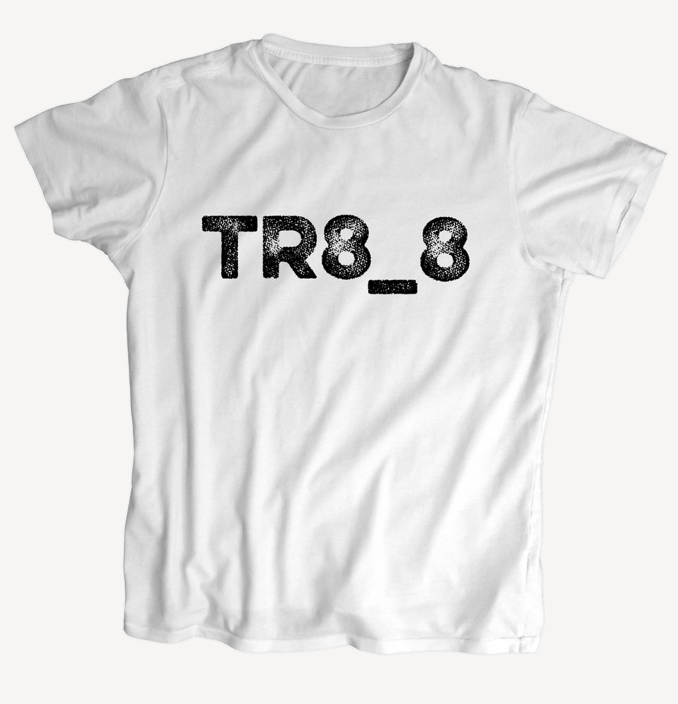 "Image of T-Shirt ""TR8_8"" - handprinted with love"