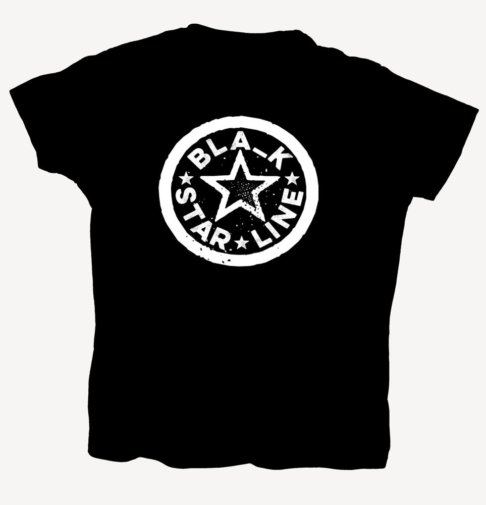 """Image of T-Shirt """"BLA_K STAR LINE"""" - handprinted with love"""