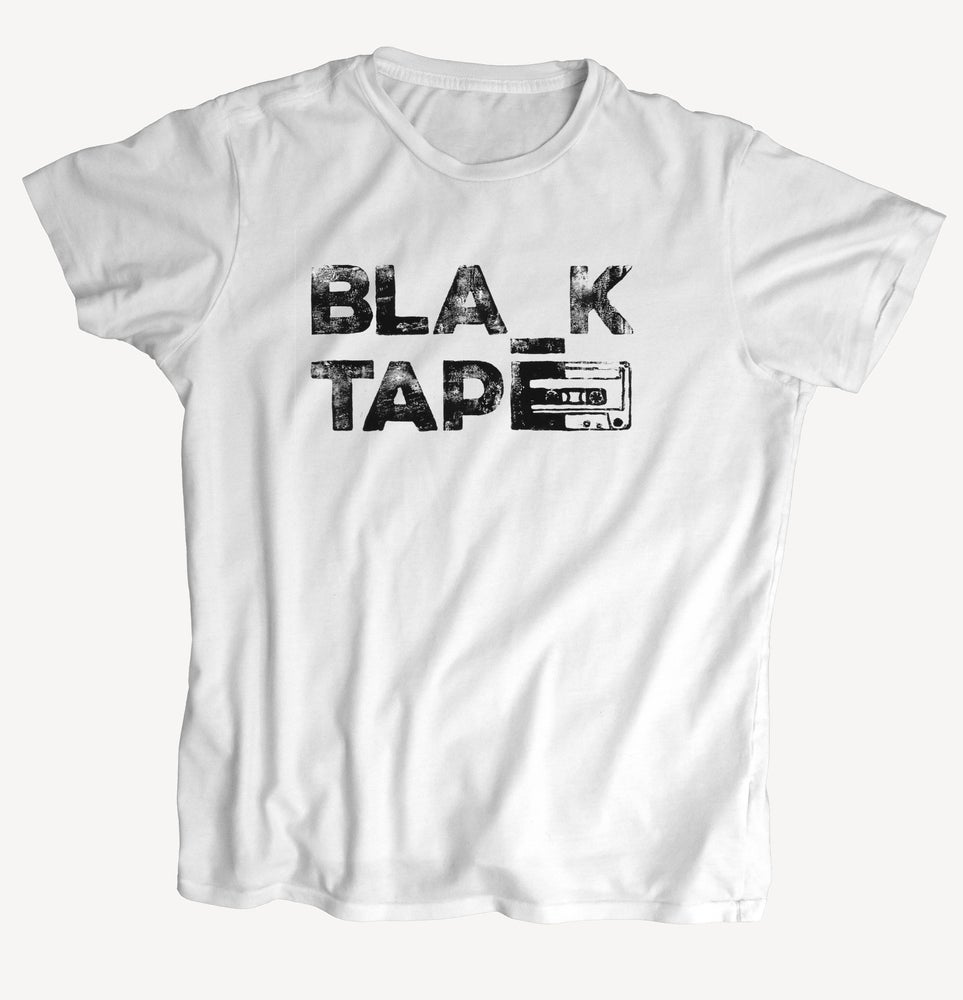 "Image of T-Shirt ""BLA_K TAPE"" - handprinted with love"