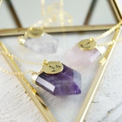 Image of Cyra - Personalised Chevron Gemstone Pendant