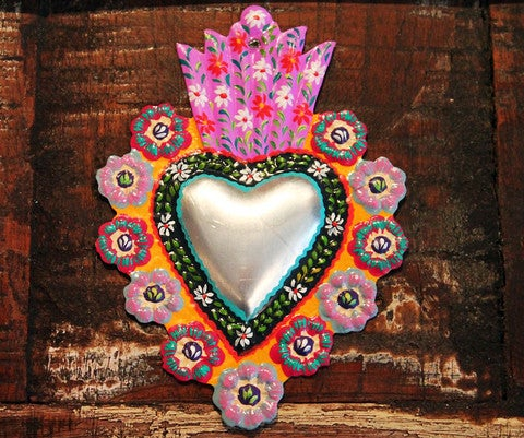 "Image of Custom Channeled Milagros or ""Miracles""  Sacred Heart Necklace"