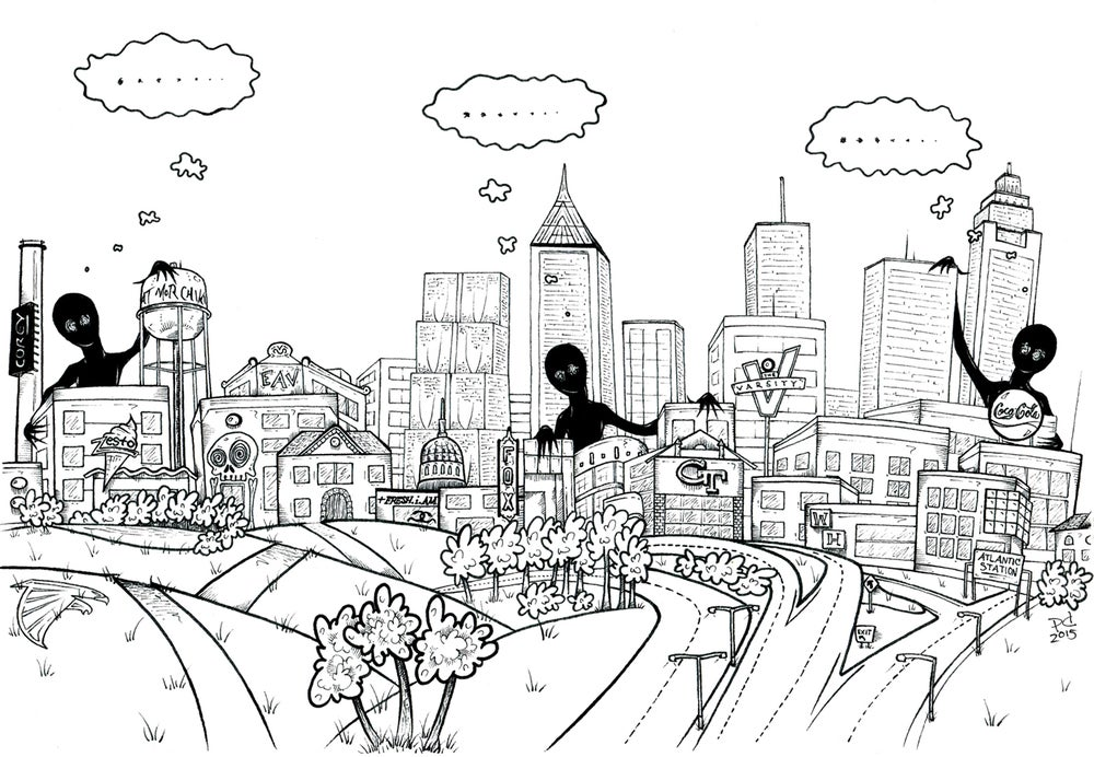"""Image of """"ATL Wanderers"""" Limited Edition Art Print"""