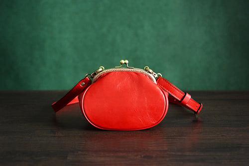 Image of Custom Handmade Italian Tanned Leather Satchel Messenger Shoulder Bag Women Mini Bag D033