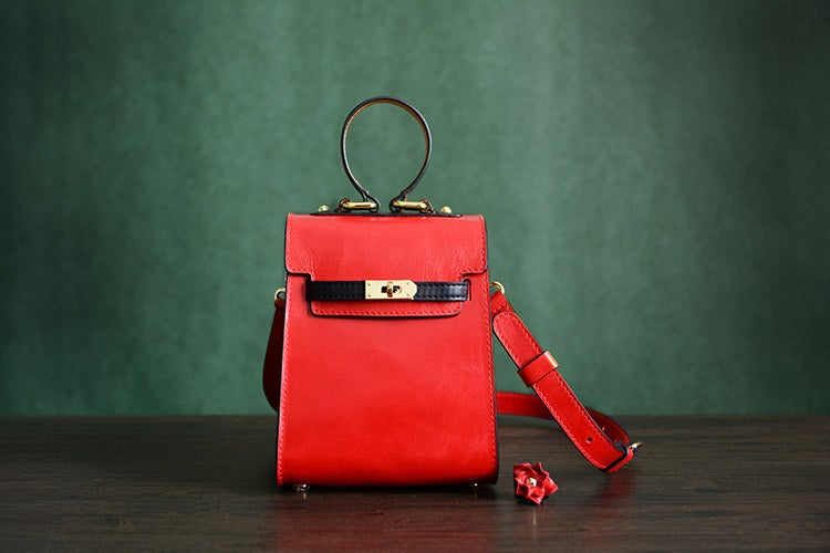 Image of Custom Handmade Italian Vegetable Tan Brown Leather Satchel Bag, Messenger Shoulder Bag D036