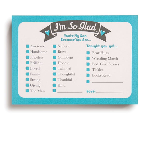 I'm So Glad You're My Son Encouragement Pad