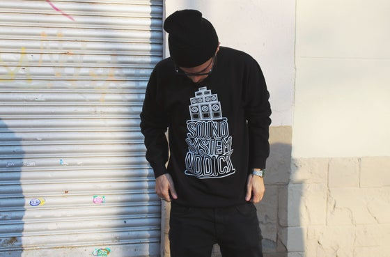 Image of SOUNDSYSTEM ADDICT Sweatshirt  (black)