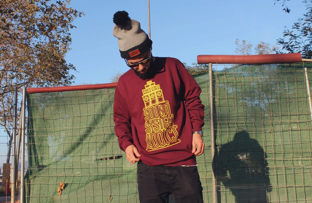Image of SOUNDSYSTEM ADDICT Sweatshirt Burgundy