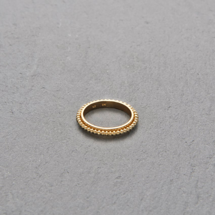 Image of 18k Gold Mount Lavinia Pellet Ring