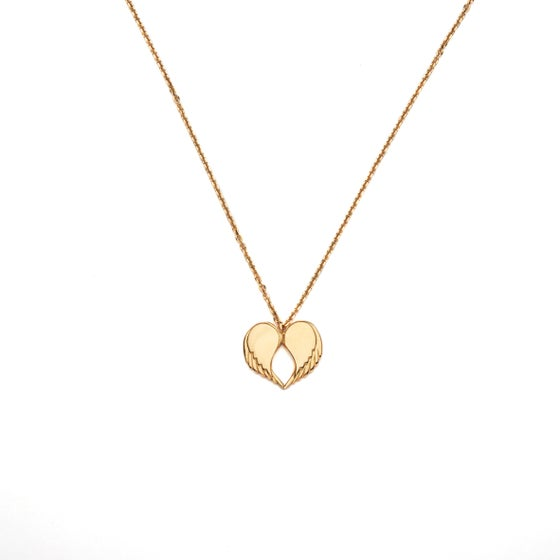 "Image of Angel Love Pendant - LONG 18ct Yellow Gold Plated 30"" Chain"