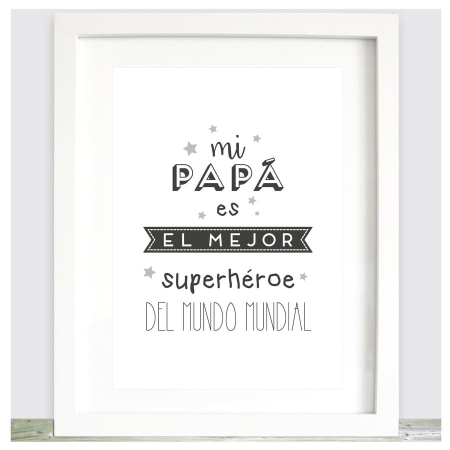 Image of Lámina Mi papá es un superhéroe