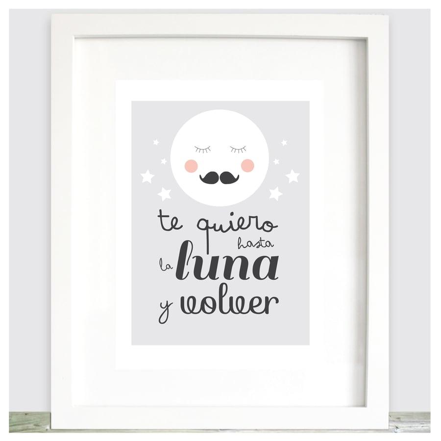 Image of Lámina Te quiero hasta la Luna y volver