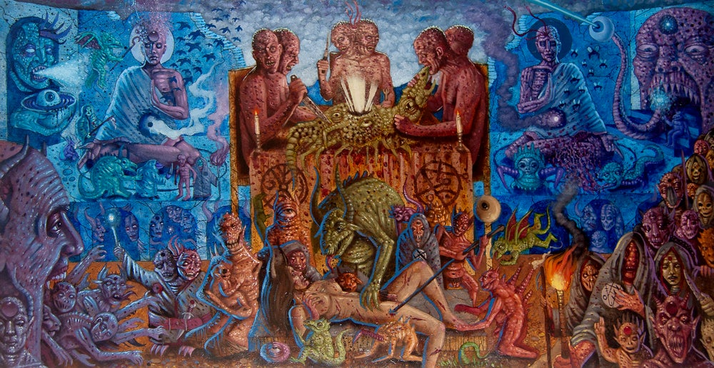 "Image of 'Ritual Sacrifice of the Epicene' 13""x25"" Limited Edition Giclée Print"