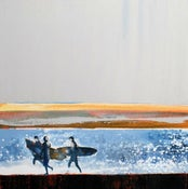 Image of Morning Surfers, Polzeath, Cornwall