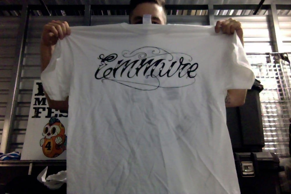 "Image of EMMURE ""SCRIPT LOGO/ETERNAL ENEMIES"" SHIRT"