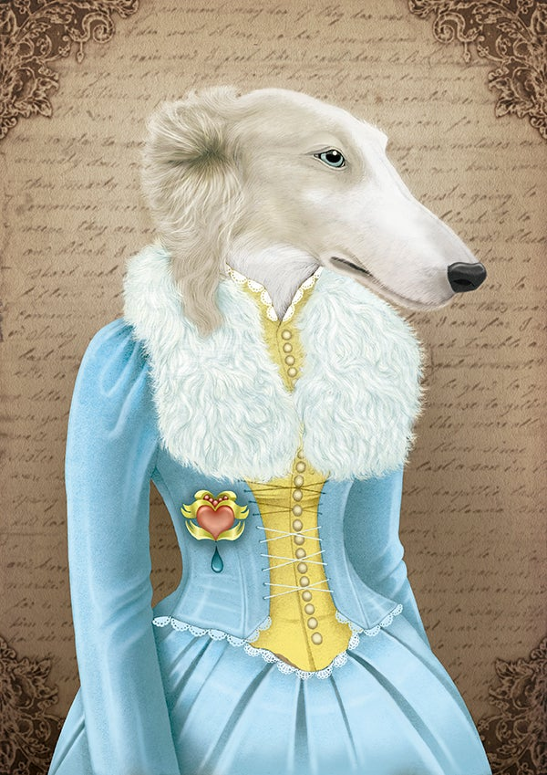 Image of Amélia the borzoi