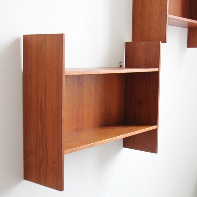 Image of A pair of Danish mid century shelves