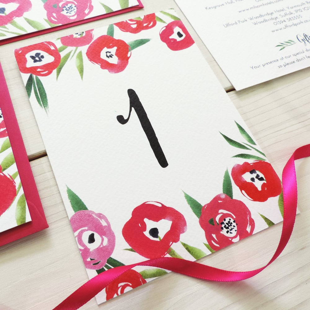 Image of Passion Bloom Table Number